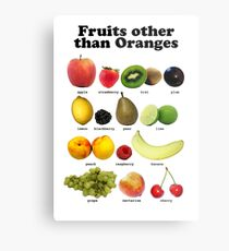 Fruits Other Than Oranges Wall-chart Metal Print