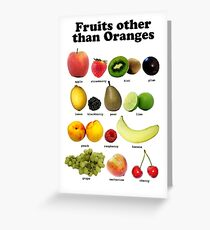 Fruits Other Than Oranges Wall-chart Greeting Card