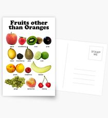 Fruits Other Than Oranges Wall-chart Postcards