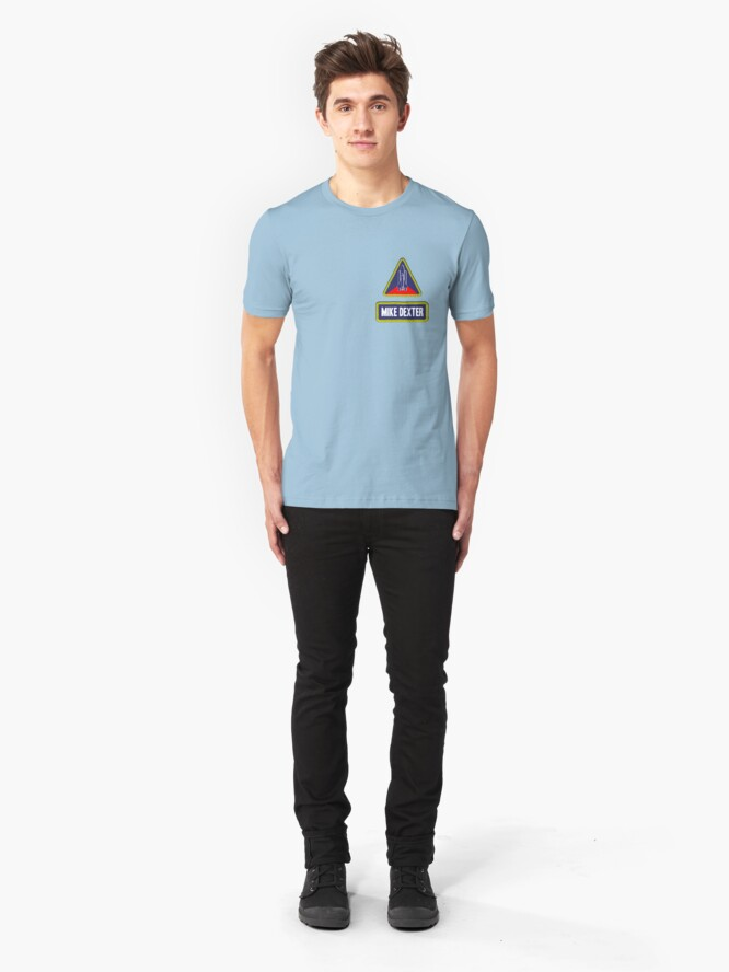 Alternate view of Astronaut Mike Dexter Slim Fit T-Shirt
