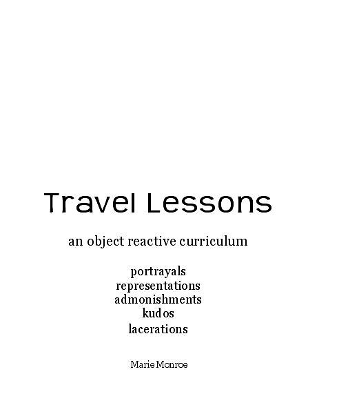 Travel Lessons by Marie Monroe