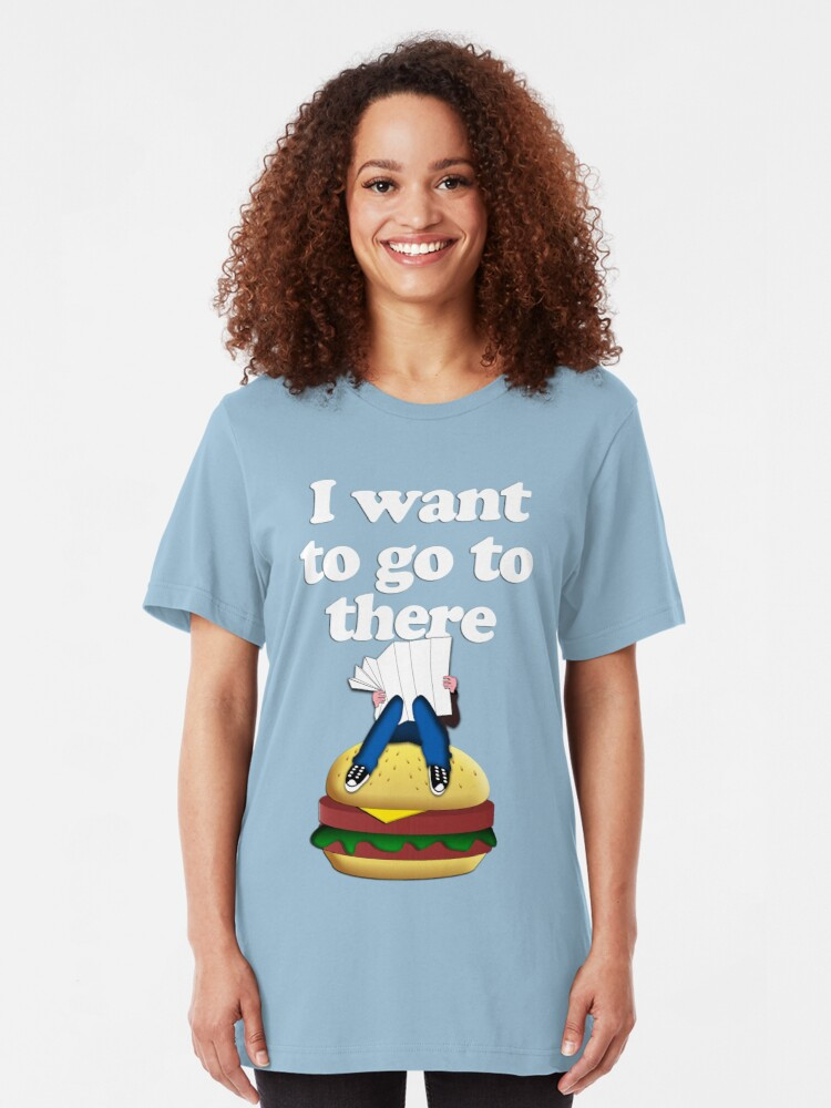 Alternate view of I want to go to there Slim Fit T-Shirt