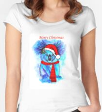 Christmas Koala Women's Fitted Scoop T-Shirt