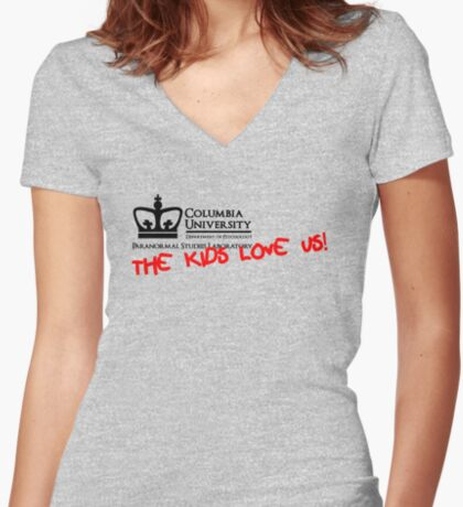 Columbia University Department of Psychology, Paranormal Studies Laboratory. Women's Fitted V-Neck T-Shirt