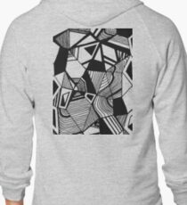 As Worlds Collide #Geometric #New #Polygon #Triangle #Lines #Sketch #Black #White T-Shirt