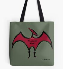 Pterodactyls Reign in Cherry Tote Bag
