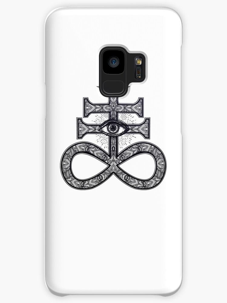 Paisley Satanic Cross With All Seeing Eye Cases Skins For Samsung