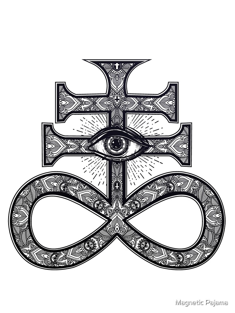 Paisley Satanic Cross With All Seeing Eye A Line Dress By