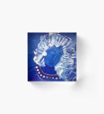Blue Lady Acrylic Block