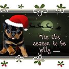 Tis The Season To Be Jolly Cute Rottweiler Christmas by taiche