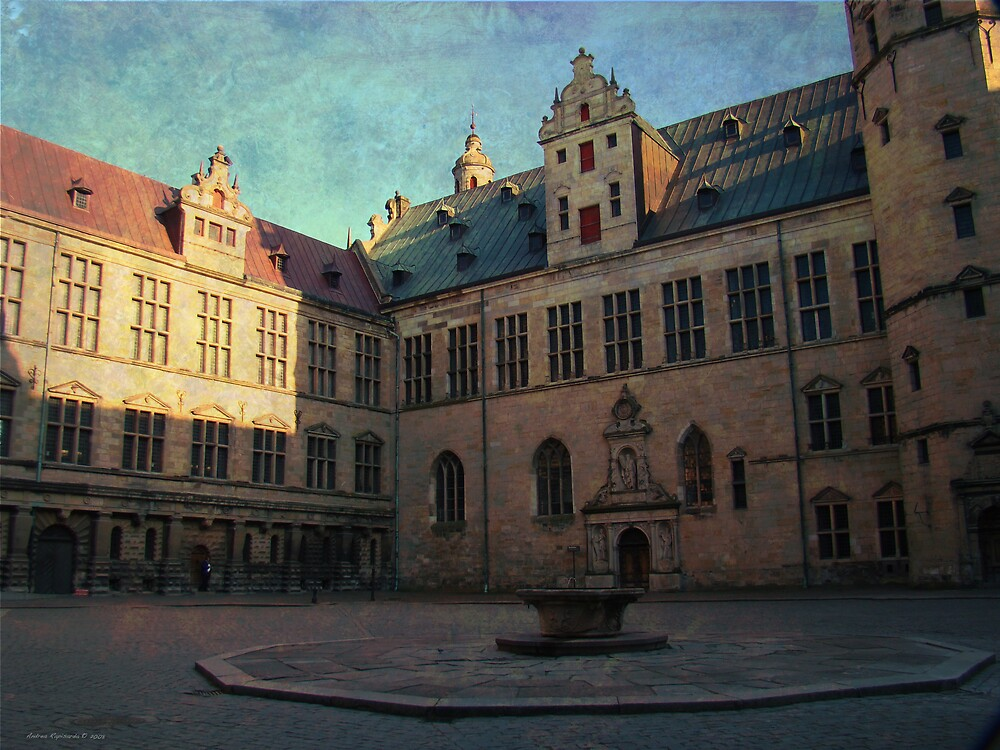 Courtyard of Kronborg Castle by Andrea Rapisarda