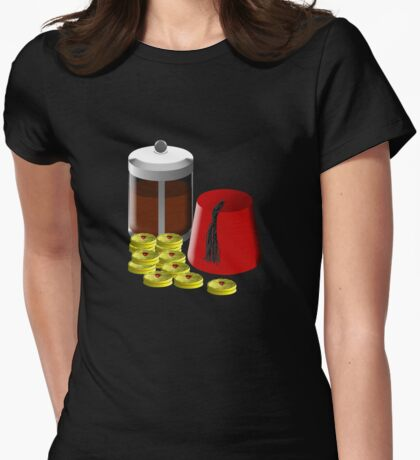 I'm going to need... a pot of coffee, 12 jammie dodgers, and a fez T-Shirt