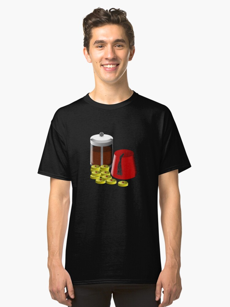 Alternate view of I'm going to need... a pot of coffee, 12 jammie dodgers, and a fez Classic T-Shirt