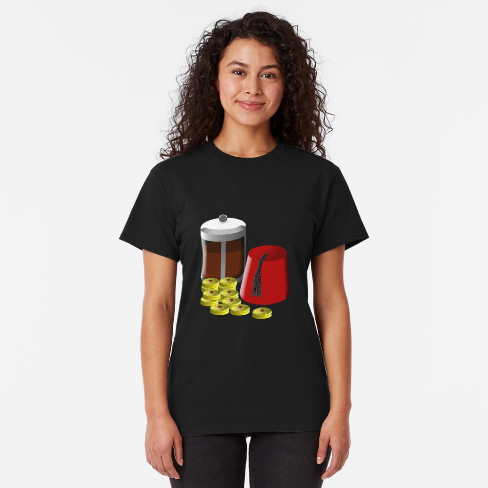 I'm going to need... a pot of coffee, 12 jammie dodgers, and a fez Classic T-Shirt