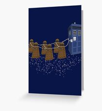 The Doctor's Sleigh Greeting Card