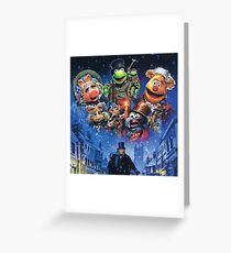 Christmas Carol-muppets Greeting Card