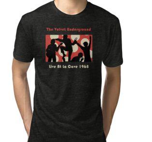 Camisetas entalladas para mujer «Velvet Underground La Cave Shirt ... deb8ee62918