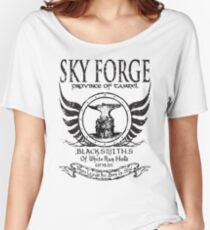 SkyForge - Where Legends Are Born In Steel Women's Relaxed Fit T-Shirt