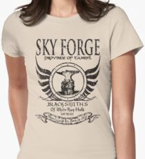 SkyForge - Where Legends Are Born In Steel Womens Fitted T-Shirt
