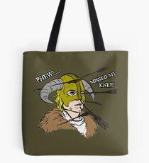 Arrow To The Knee Tote Bag