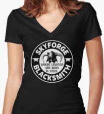 Skyforge - Where Legends Are Born In Steel Women's Fitted V-Neck T-Shirt