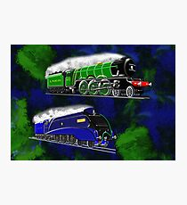 Steam Locomotives The Flying Scotsman and Mallard winner of the fastest steam locomotive Photographic Print