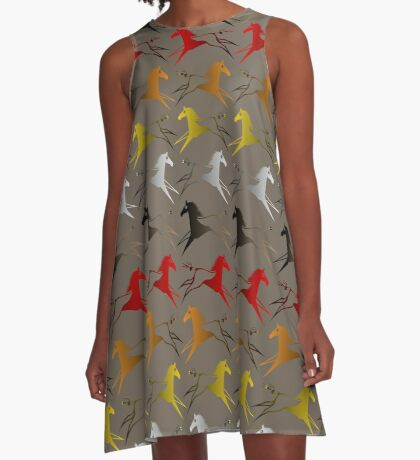 Four direction War Horse A-Line Dress