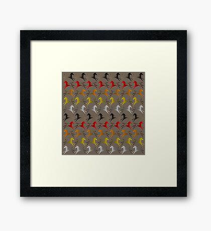 Four direction War Horse Framed Print