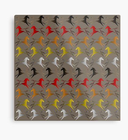 Four direction War Horse Metal Print