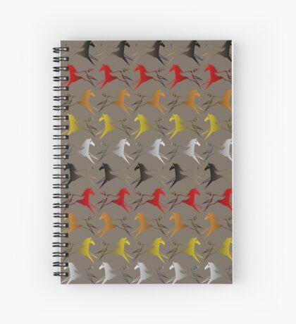 Four direction War Horse Spiral Notebook