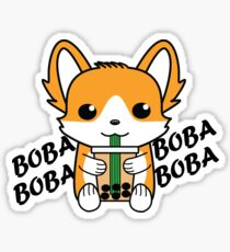Bubble Tea Corgi Boba Corgi Sticker