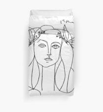 Picasso head of a women framed print Duvet Cover