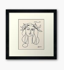Picasso head of a women framed print Framed Print