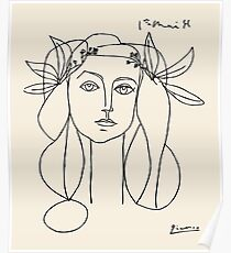 Picasso head of a women framed print Poster