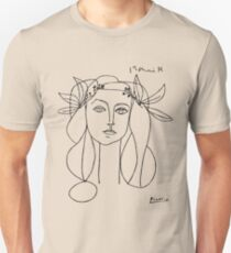 Picasso head of a women poster Unisex T-Shirt