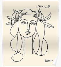 Picasso head of a women poster Poster
