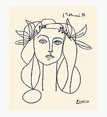 Lámina fotográfica Cabeza de Picasso de un póster de mujer