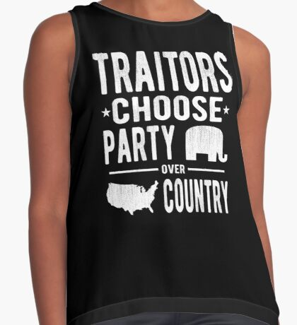 Traitors Party over Country Contrast Tank
