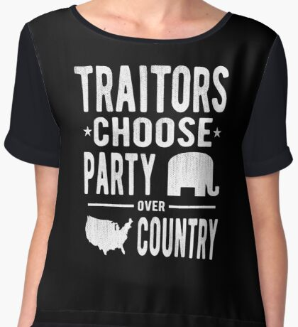 Traitors Party over Country Women's Chiffon Top