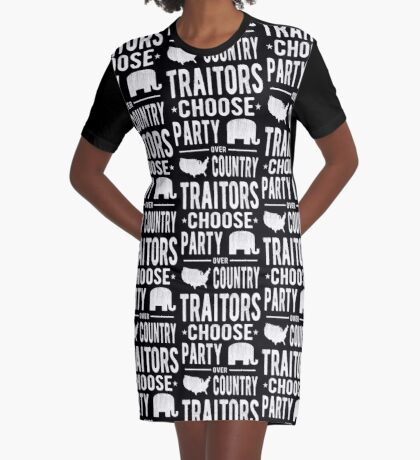 Traitors Party over Country Graphic T-Shirt Dress
