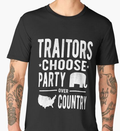 Traitors Party over Country Men's Premium T-Shirt