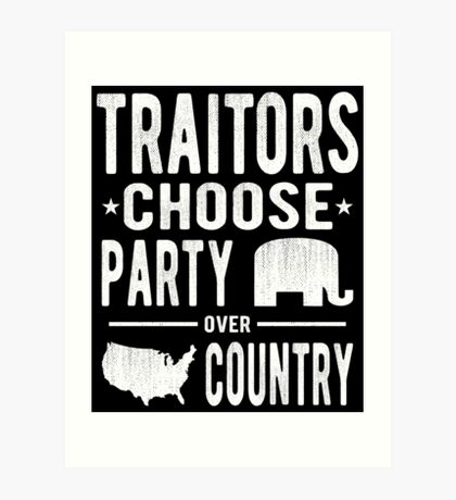 Traitors Party over Country Art Print
