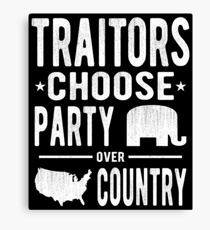Traitors Party over Country Canvas Print