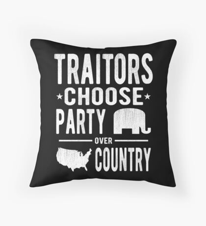 Traitors Party over Country Floor Pillow
