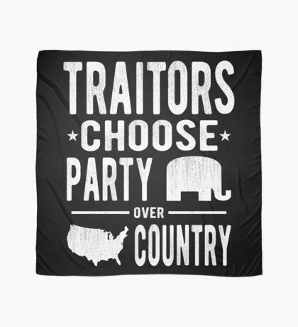 Traitors Party over Country Scarf