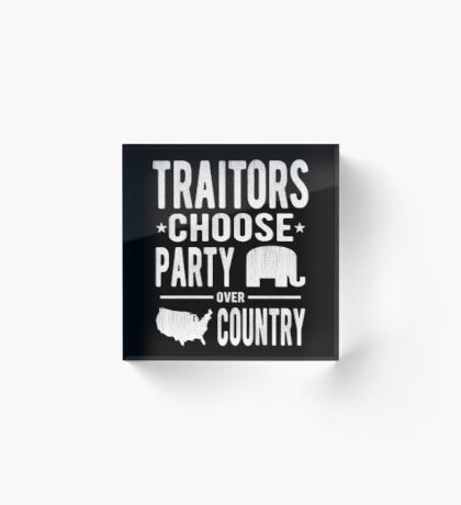 Traitors Party over Country Acrylic Block