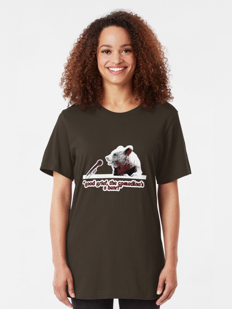 Alternate view of Good grief, the comedian's a bear! Slim Fit T-Shirt