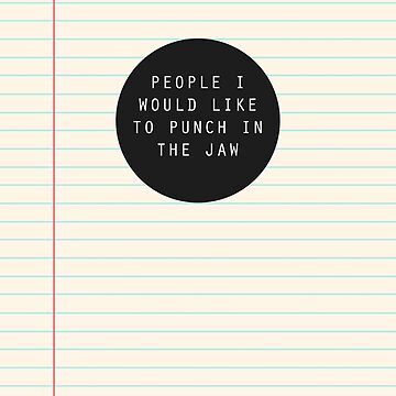 People I Want To Punch by singtome