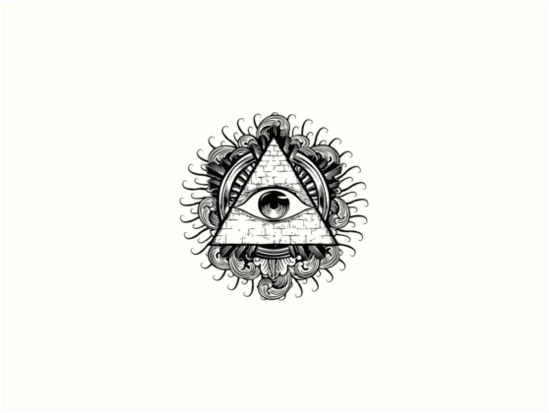 Masonic Eye Illuminati By Stephane Rodrigue