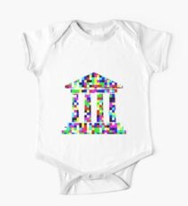 Colorful Buildings One Piece - Short Sleeve